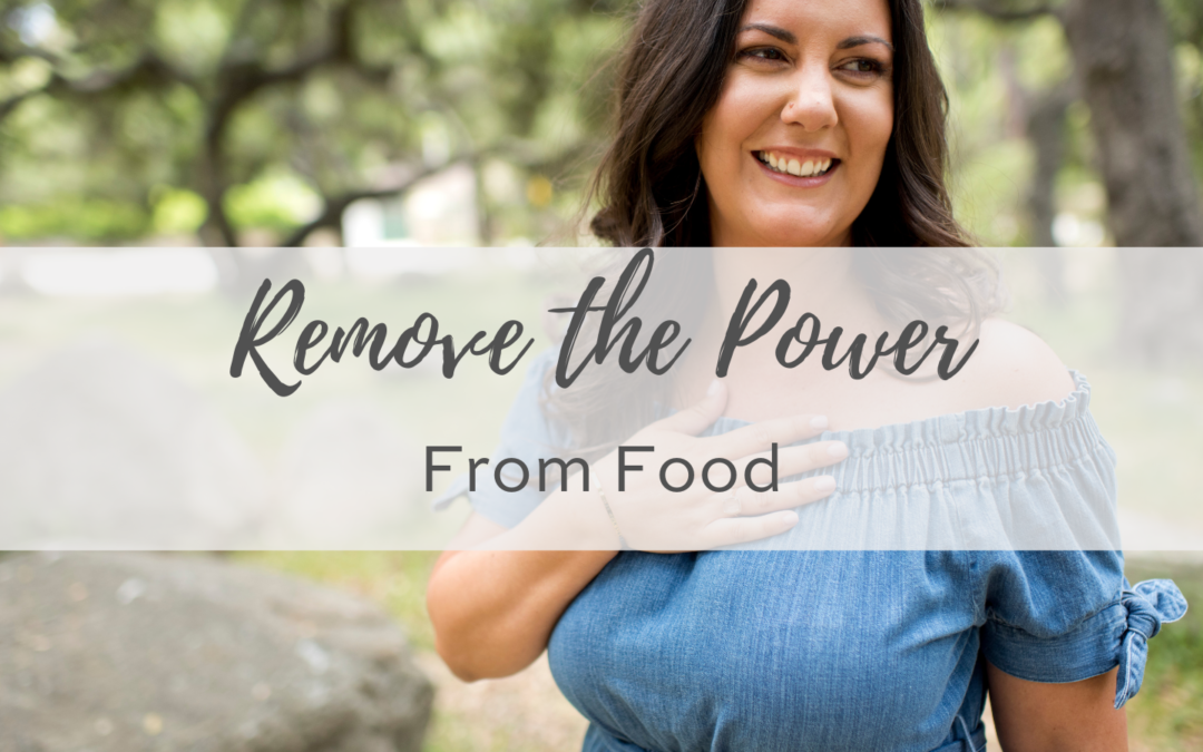 Remove the Power From Food